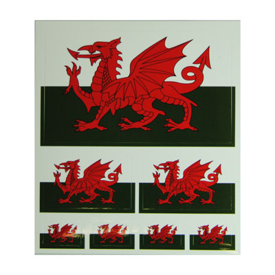 Wales Flag Sticker Pack