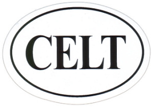 CELT oval Sticker