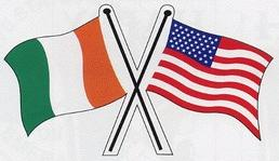 Ireland USA Sticker